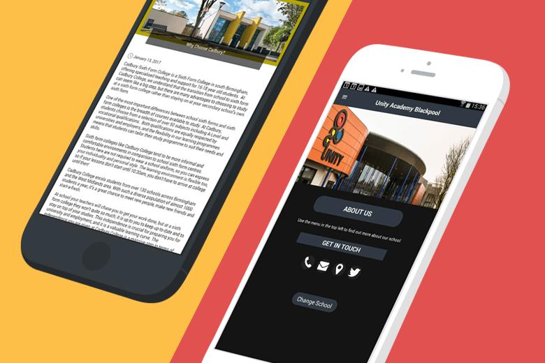 responsive school website vs school app
