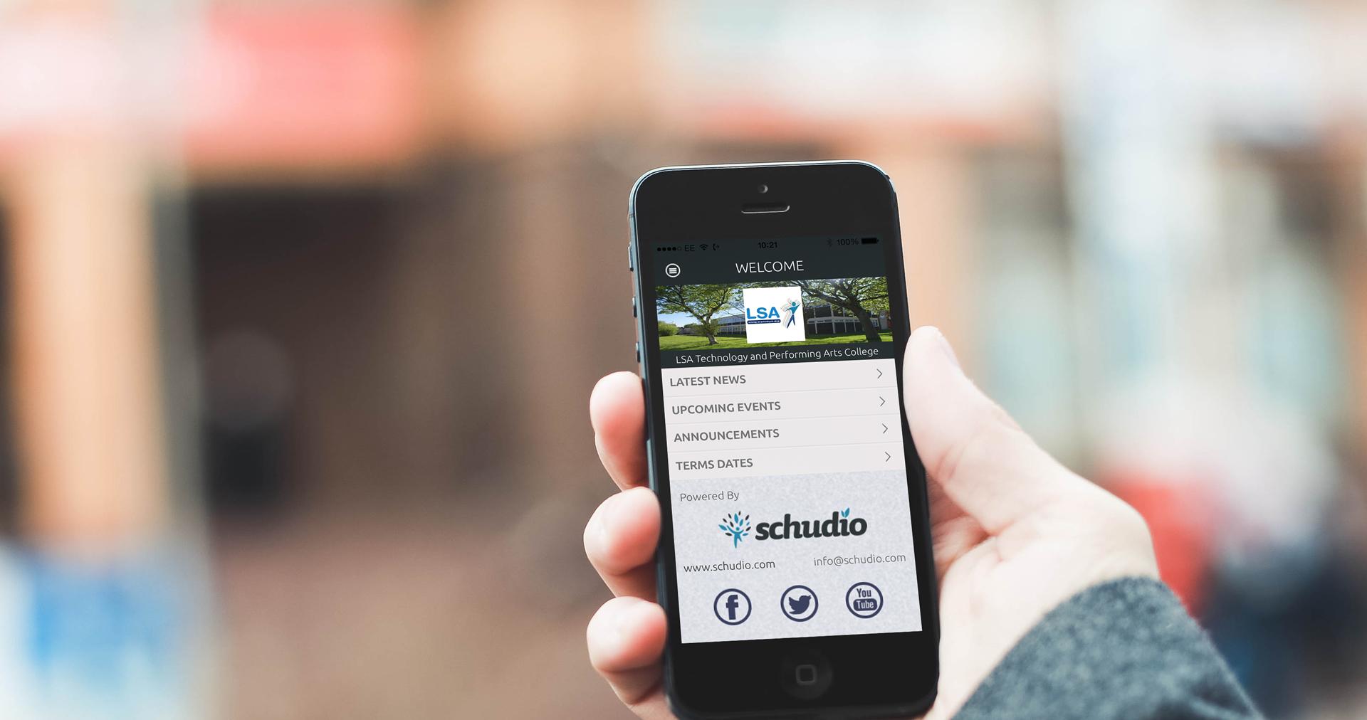 Schudio app for schools