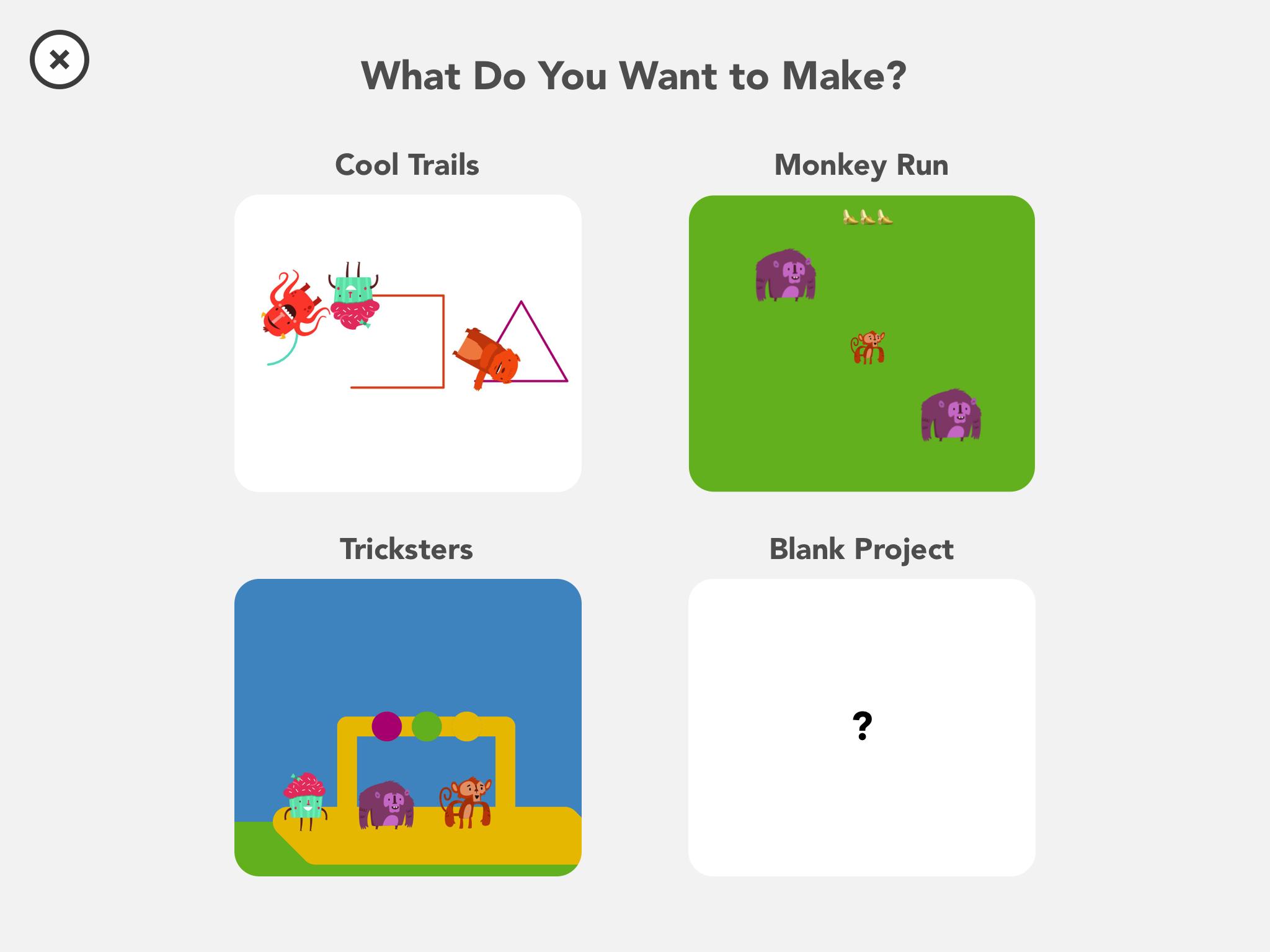 Hopscotch New Project Screenshot