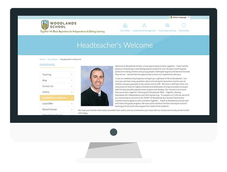 example-of-school-website-welcome-woodlands