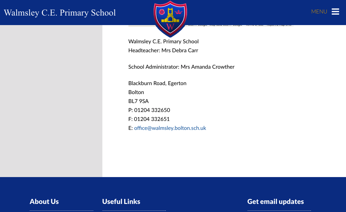Walmsley Primary Contact