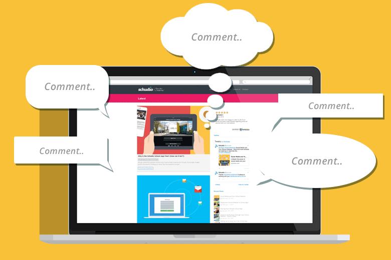 Blog Comments on School Websites