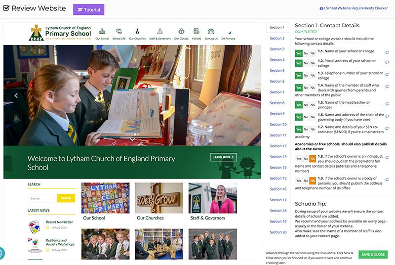 School Website Audit 2018 - Screenshot