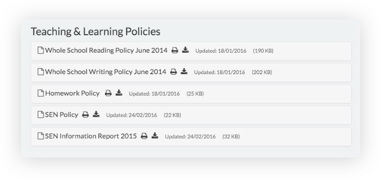 How to display statutory policies consistently